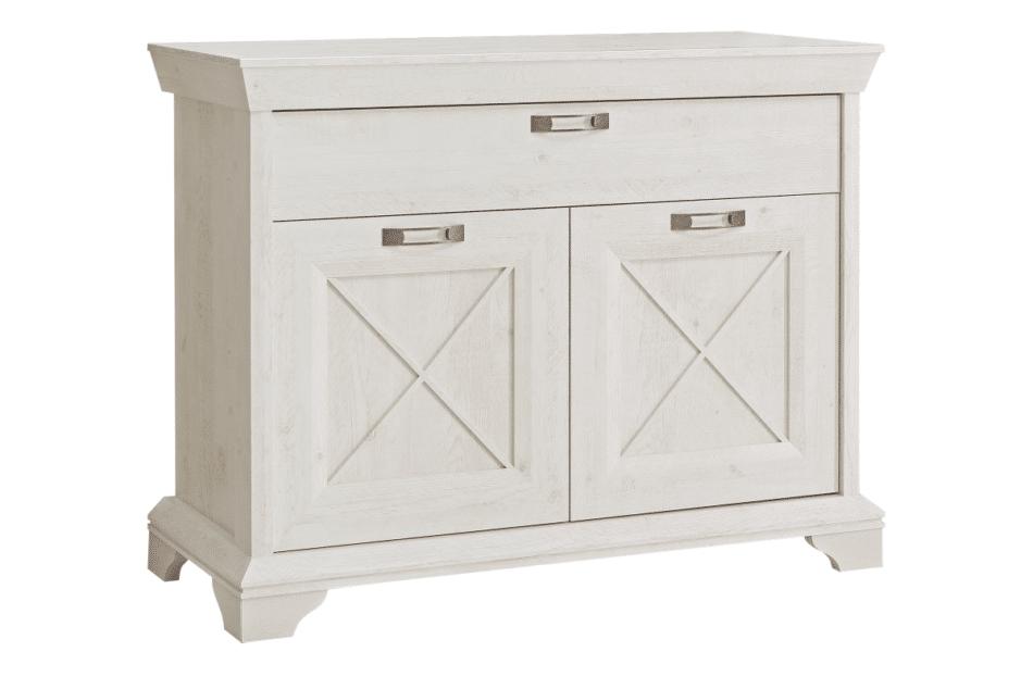 KASHMIR Komoda z szufladą rustykalna szary/biały/różowy - zdjęcie 0