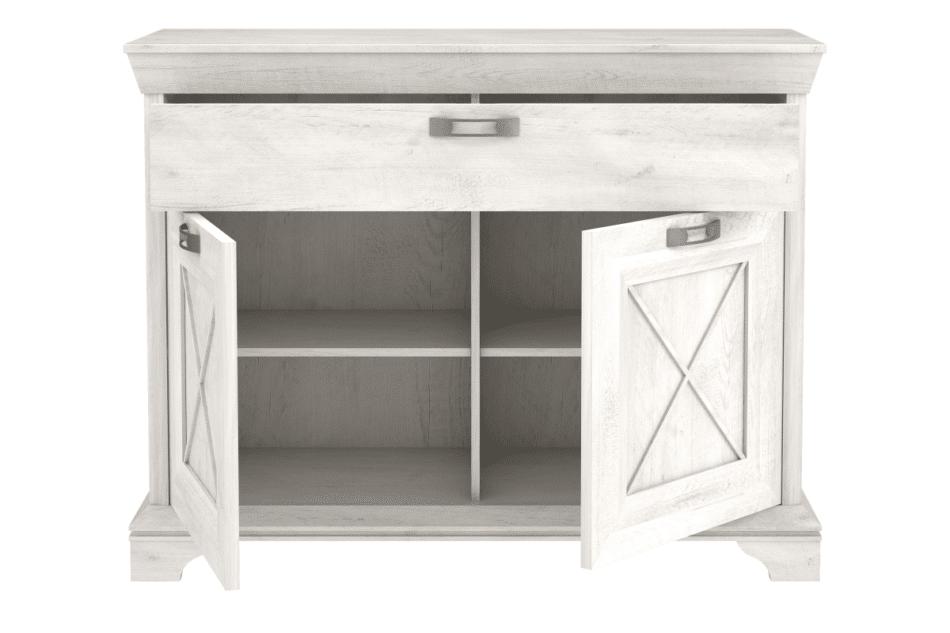KASHMIR Komoda z szufladą rustykalna szary/biały/różowy - zdjęcie 2