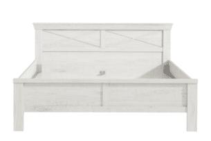 KASHMIR, https://konsimo.pl/kolekcja/kashmir/ Rama łożka 160x200 rustykalna szary/biały/różowy - zdjęcie