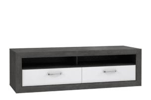 LENNOX NEW, https://konsimo.pl/kolekcja/lennox-new/ Stylowa szafka RTV z szufladami biały - zdjęcie