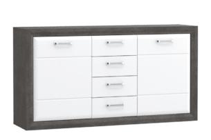 LENNOX NEW, https://konsimo.pl/kolekcja/lennox-new/ Stylowa komoda z szufladami biały - zdjęcie