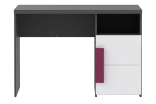 LIBELLE, https://konsimo.pl/kolekcja/libelle/ Nowoczesne biurko z półkami biały - zdjęcie