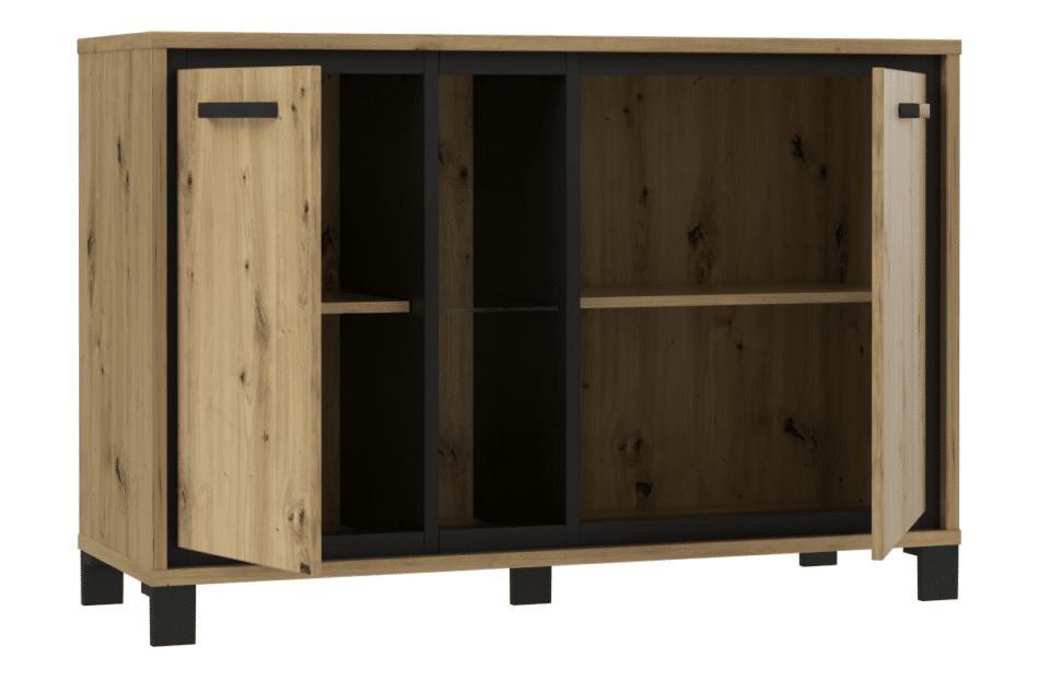 TRONDHEIM Komoda minimalistyczna do sypialni dąb sonoma/szary - zdjęcie 2