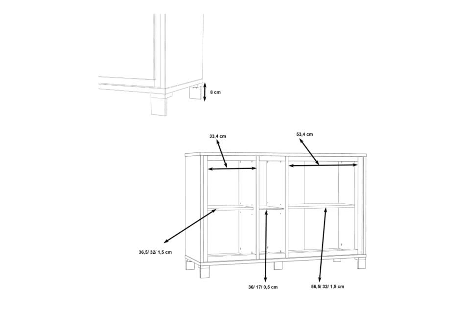 TRONDHEIM Komoda minimalistyczna do sypialni dąb sonoma/szary - zdjęcie 11