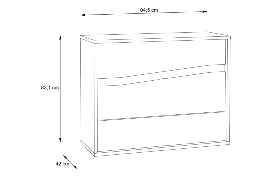 WHITE SEA Funkcjonalna komoda do sypialni dąb sonoma - zdjęcie 8