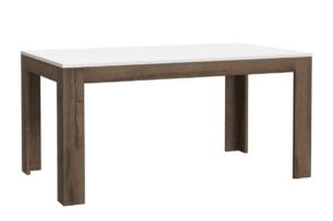 WHITE SEA, https://konsimo.pl/kolekcja/white-sea/ Funkcjonalny stół do kuchni rozkładany dąb sonoma - zdjęcie