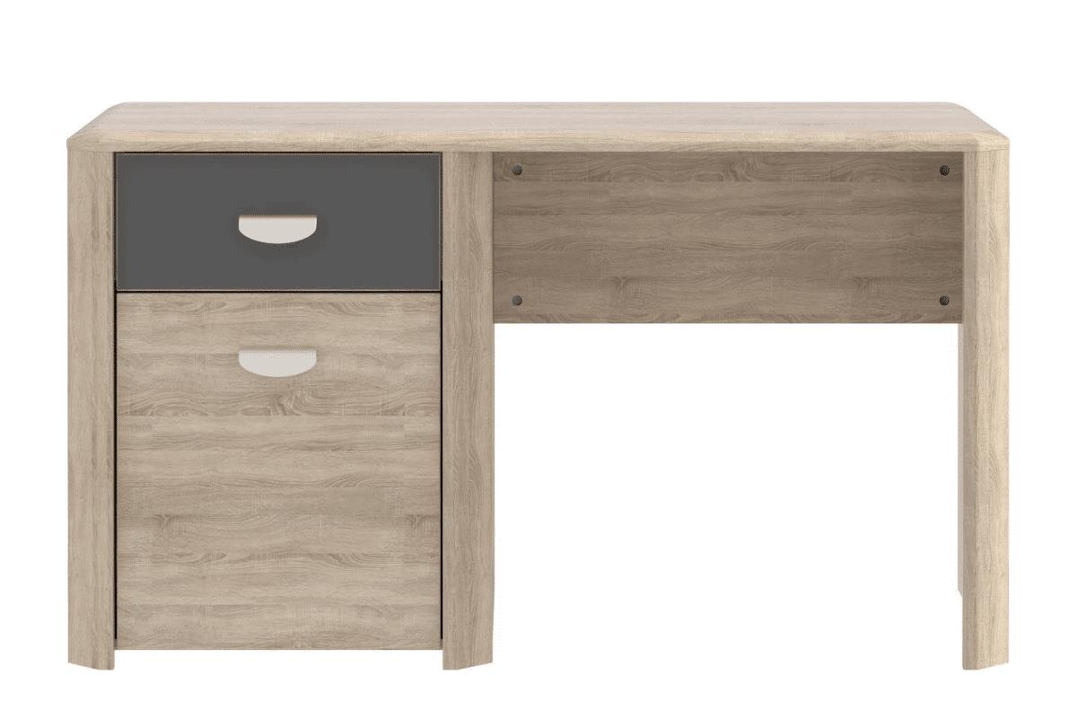 Biurko z szufladą i półkami