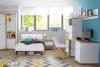 CHICORY Komoda z szufladami i półkami biały/dąb naturalny - zdjęcie 2