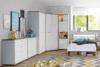 CHICORY Komoda z szufladami i półkami biały/dąb naturalny - zdjęcie 5
