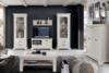 KASHMIR Komoda w stylu rustykalnym ciemny szary/biały - zdjęcie 2