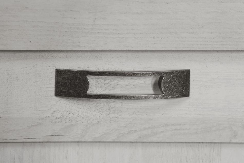 KASHMIR Komoda z szufladą rustykalna szary/biały/różowy - zdjęcie 4