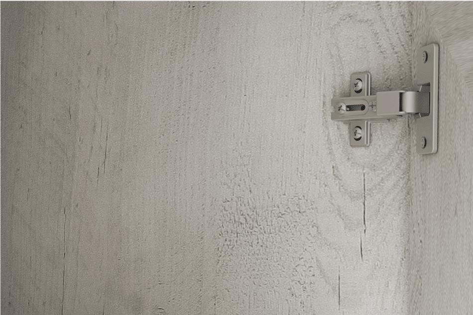KASHMIR Komoda z szufladą rustykalna szary/biały/różowy - zdjęcie 5