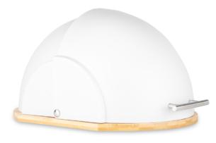 SILIGO, https://konsimo.pl/kolekcja/siligo/ Chlebak Bambusowy biały okrągły biało - zdjęcie
