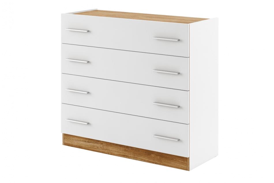 CALIBO Komoda do sypialni z szufladami biały/dąb stirling - zdjęcie 0