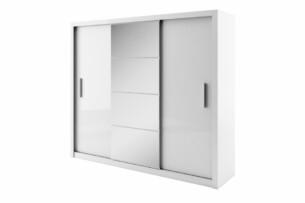 TIVO, https://konsimo.pl/kolekcja/tivo/ Szafa trzydrzwiowa z lustrem biały - zdjęcie