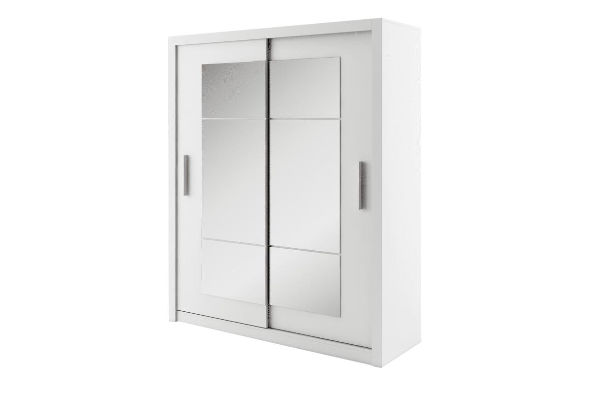 Szafa przesuwna z lustrami biała