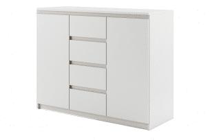 TIVO, https://konsimo.pl/kolekcja/tivo/ Pojemna komoda do sypialni biała biały - zdjęcie