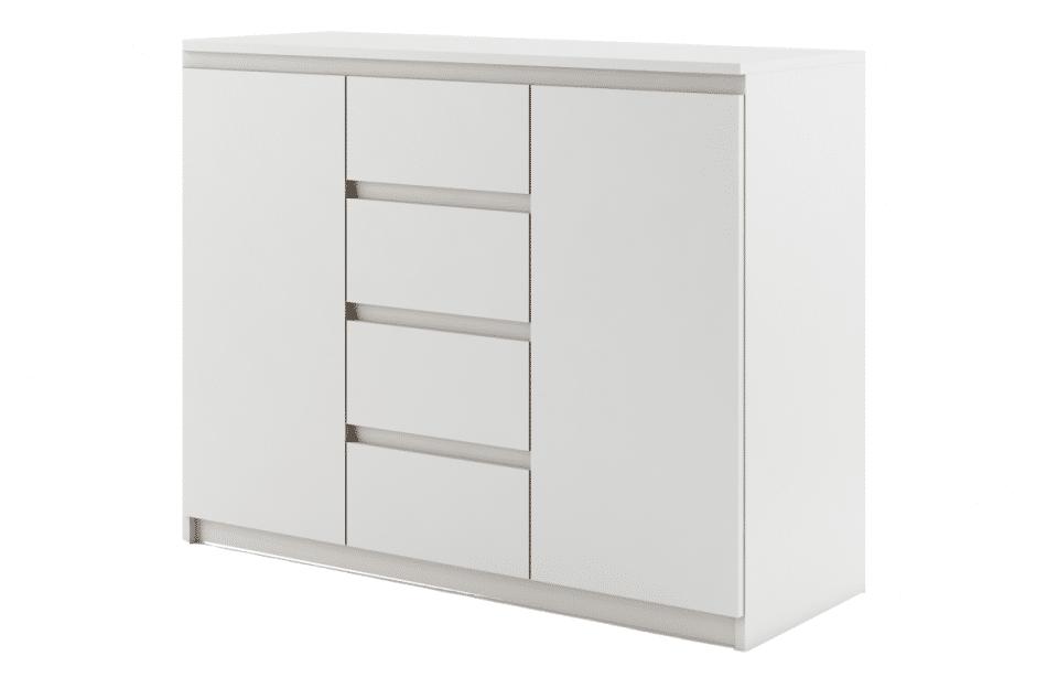 TIVO Pojemna komoda do sypialni biała biały - zdjęcie 0