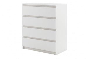 TIVO, https://konsimo.pl/kolekcja/tivo/ Pojemna komoda do sypialni z szufladami biała biały - zdjęcie