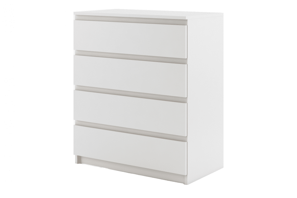 TIVO Pojemna komoda do sypialni z szufladami biała biały - zdjęcie 0