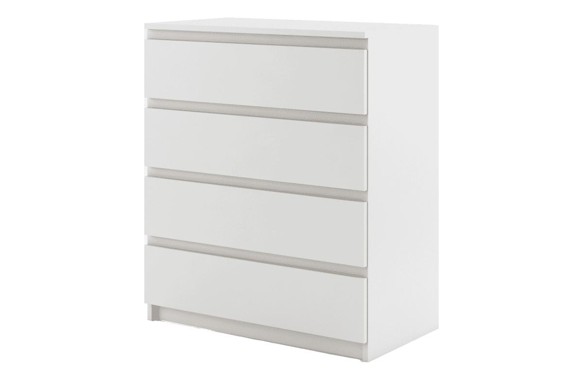 Pojemna komoda do sypialni z szufladami biała