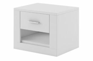 TIVO, https://konsimo.pl/kolekcja/tivo/ Szafka nocna z szufladą biała biały - zdjęcie