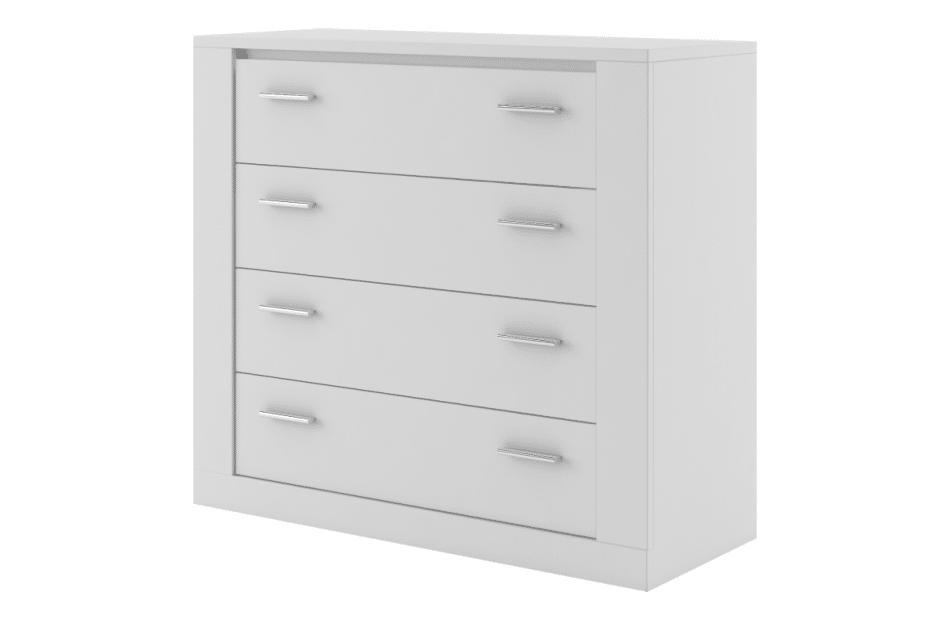TIVO Komoda z szufladami do sypialni biała biały - zdjęcie 0