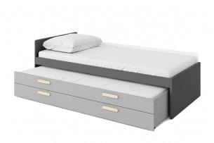 GRISE, https://konsimo.pl/kolekcja/grise/ Szuflada pod łóżko z materacem szary - zdjęcie
