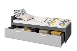 GRISE, https://konsimo.pl/kolekcja/grise/ Szuflada pod łóżko szary - zdjęcie