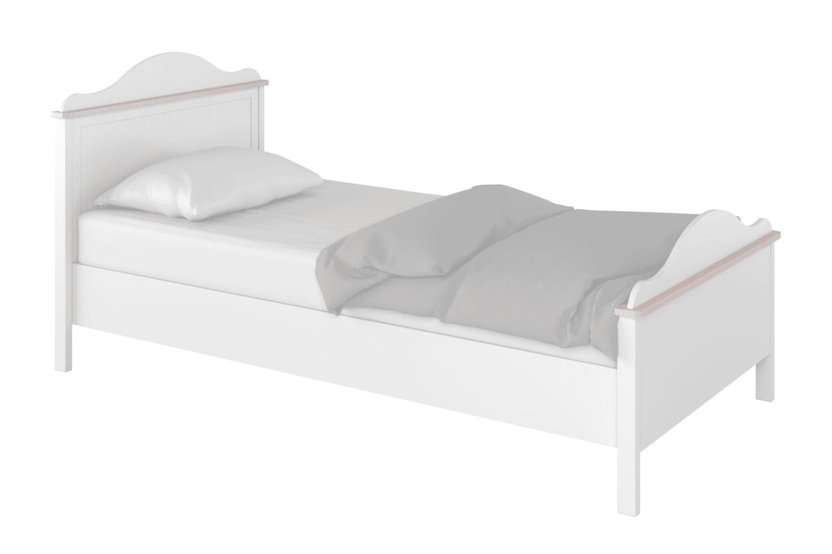 Łóżko dla dziewczynki 90x200 białe