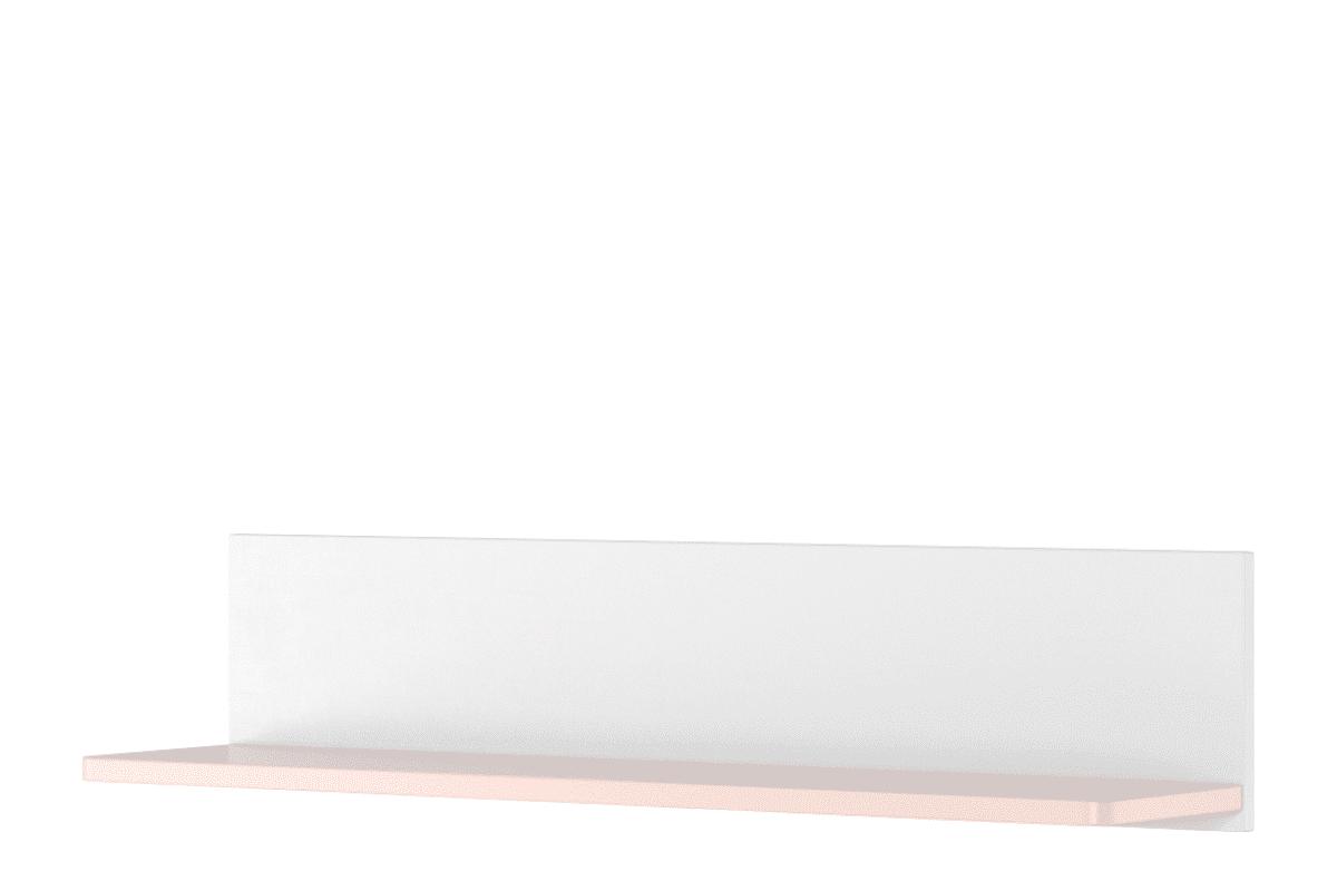 Półka wisząca dla dziewczynki biała