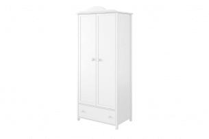 GIGLU, https://konsimo.pl/kolekcja/giglu/ Szafa ubraniowa dla dziewczynki biała biały/różowy - zdjęcie