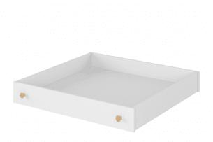 HUTTO, https://konsimo.pl/kolekcja/hutto/ Szuflada pod łóżko biały/dąb naturalny - zdjęcie