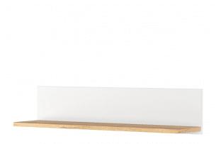 HUTTO, https://konsimo.pl/kolekcja/hutto/ Półka na książki wisząca biały/dąb naturalny - zdjęcie