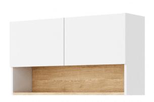 ANDRO, https://konsimo.pl/kolekcja/andro/ Prosta szafka wisząca wąska modern biały/dąb naturalny - zdjęcie