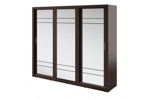 APERA, https://konsimo.pl/kolekcja/apera/ Duża szafa trzydrzwiowa z lustrem wenge wenge - zdjęcie