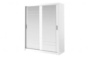 APERA, https://konsimo.pl/kolekcja/apera/ Pojemna szafa dwudrzwiowa z lustrem biała biały - zdjęcie