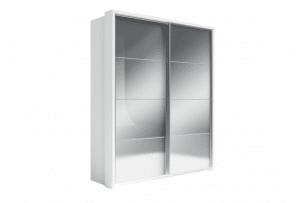 APERA, https://konsimo.pl/kolekcja/apera/ Duża lustrzana szafa biała biały - zdjęcie