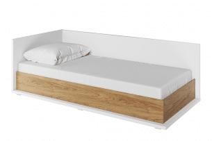 TINCTO, https://konsimo.pl/kolekcja/tincto/ Łóżko jednoosobowe z materacem biały/hikora naturalna - zdjęcie