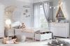 GIGLU Komoda z półkami dla dziewczynki biała biały/różowy - zdjęcie 4