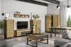 HURICO Komoda z półkami loft dąb artisan/czarny - zdjęcie 4