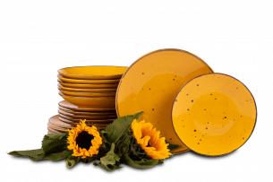 ALUMINA, https://konsimo.pl/kolekcja/alumina/ Serwis obiadowy polska porcelana Cottage Yellow dla 6 os. Cottage Yellow - zdjęcie