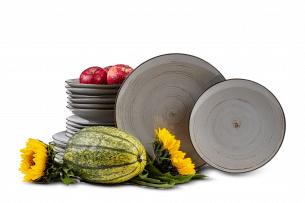 ALUMINA, https://konsimo.pl/kolekcja/alumina/ Serwis obiadowy polska porcelana Nostalgia Popiel dla 6 os. Nostalgia Popiel - zdjęcie