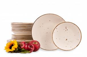 ALUMINA, https://konsimo.pl/kolekcja/alumina/ Serwis obiadowy polska porcelana Cottage Cream dla 6 os. Cottage Cream - zdjęcie