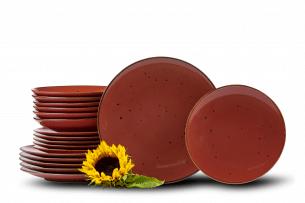 ALUMINA, https://konsimo.pl/kolekcja/alumina/ Serwis obiadowy polska porcelana Cottage Marsala dla 6 os. Cottage Marsala - zdjęcie