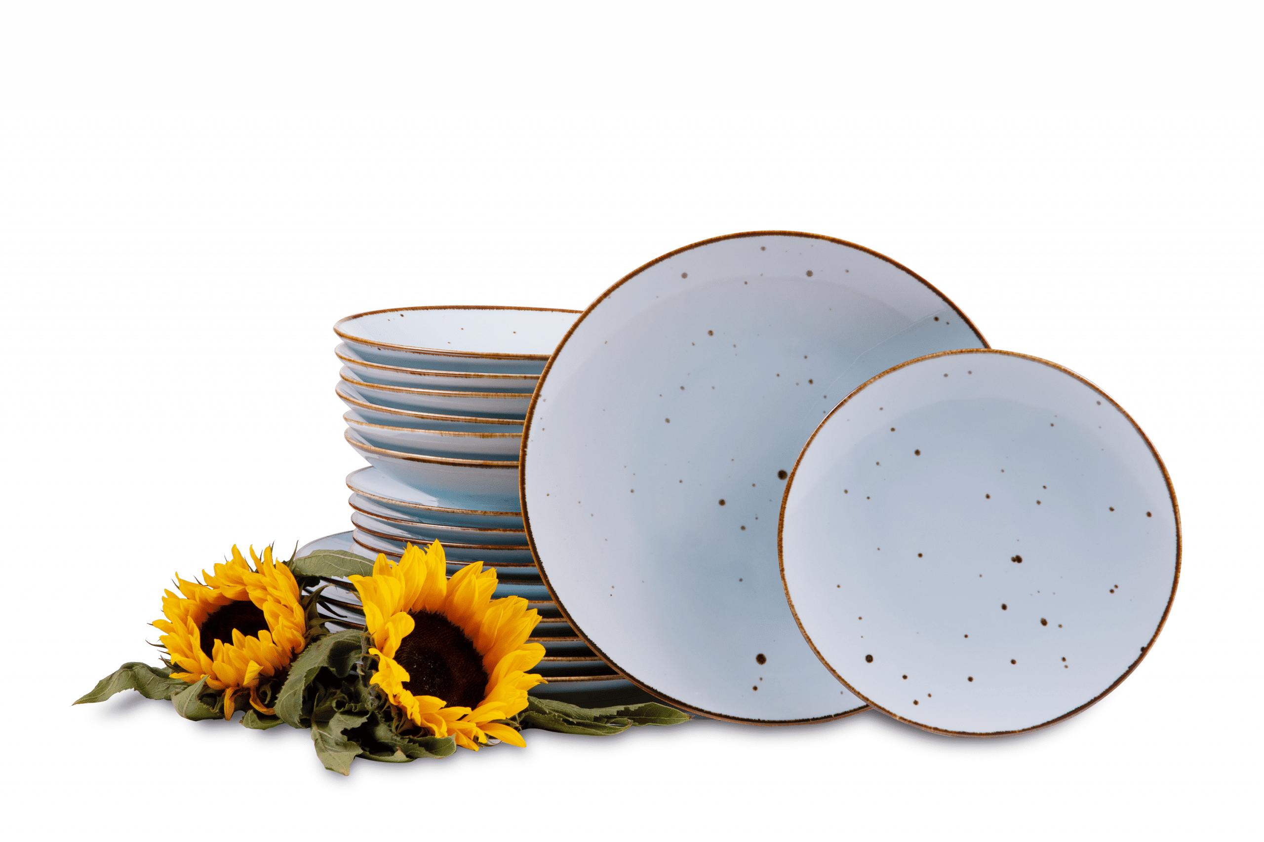 Serwis obiadowy polska porcelana Cottage Sky dla 6 os.