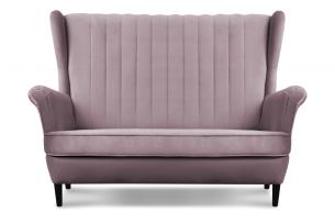 ABELO, https://konsimo.pl/kolekcja/abelo/ Sofa uszak na nóżkach różowa różowy - zdjęcie