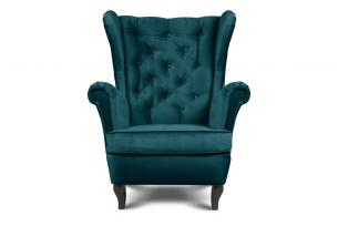 BROMO, https://konsimo.pl/kolekcja/bromo/ Pikowany fotel uszak niebieski morski - zdjęcie