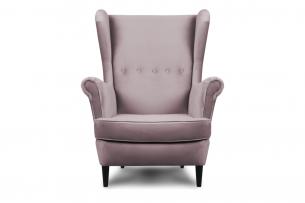 LETO, https://konsimo.pl/kolekcja/leto/ Welurowy fotel uszak różowy różowy - zdjęcie