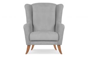 LAMBER, https://konsimo.pl/kolekcja/lamber/ Skandynawski fotel uszak  szary szary - zdjęcie